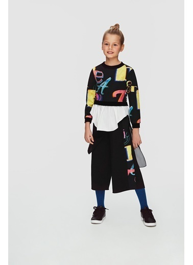 Lia Lea Kız Çocuk Siyah Pantolon 20Fwll08153 Siyah